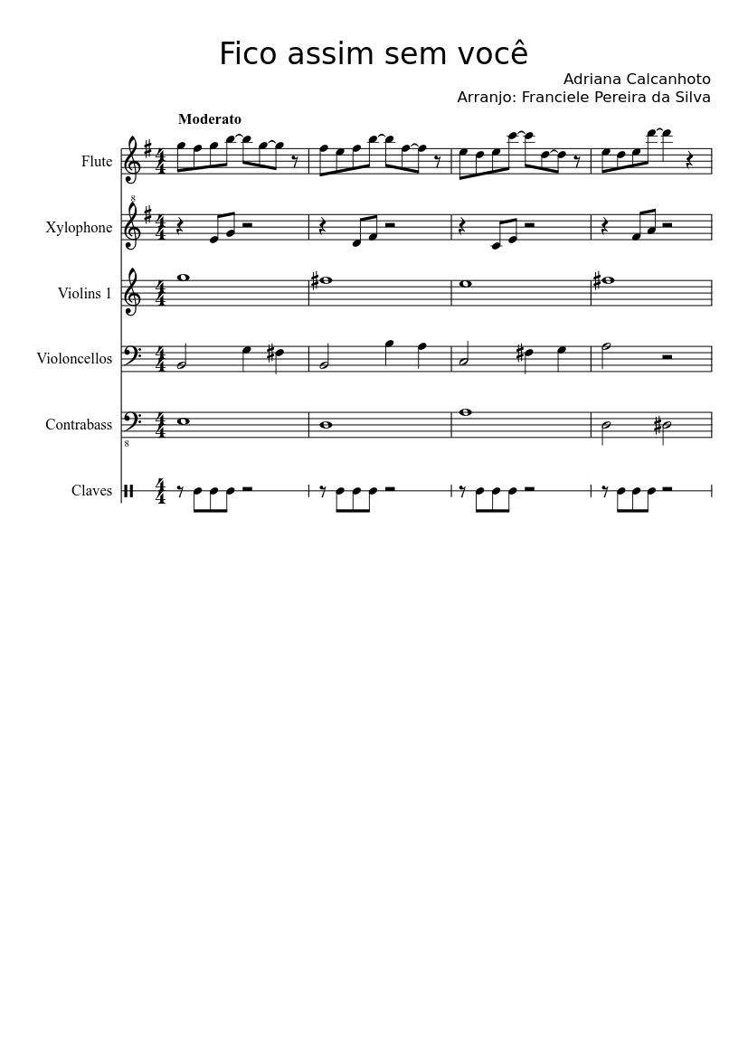 Fico assim sem você sheet music download free in pdf or midi.