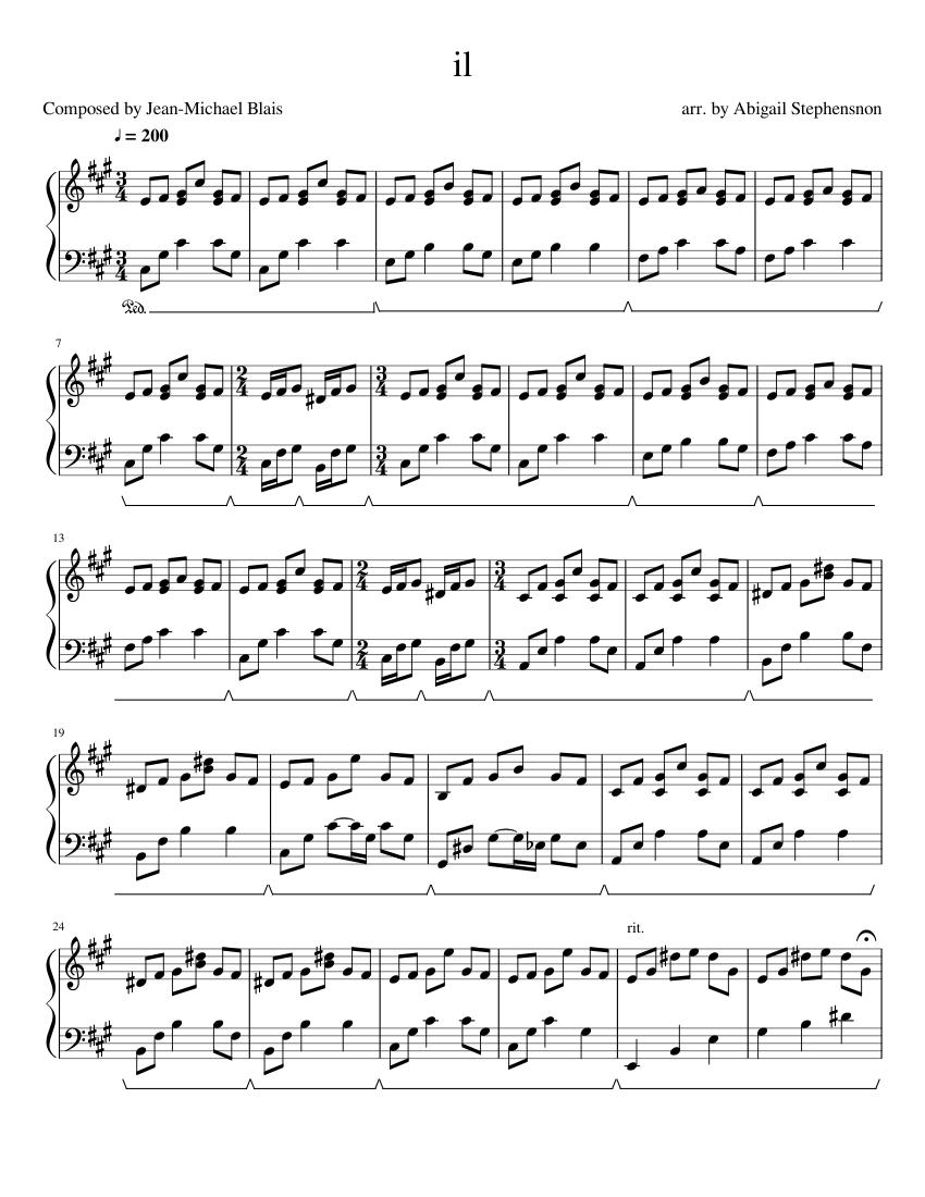 il sheet music for piano (solo) | musescore.com  musescore.com