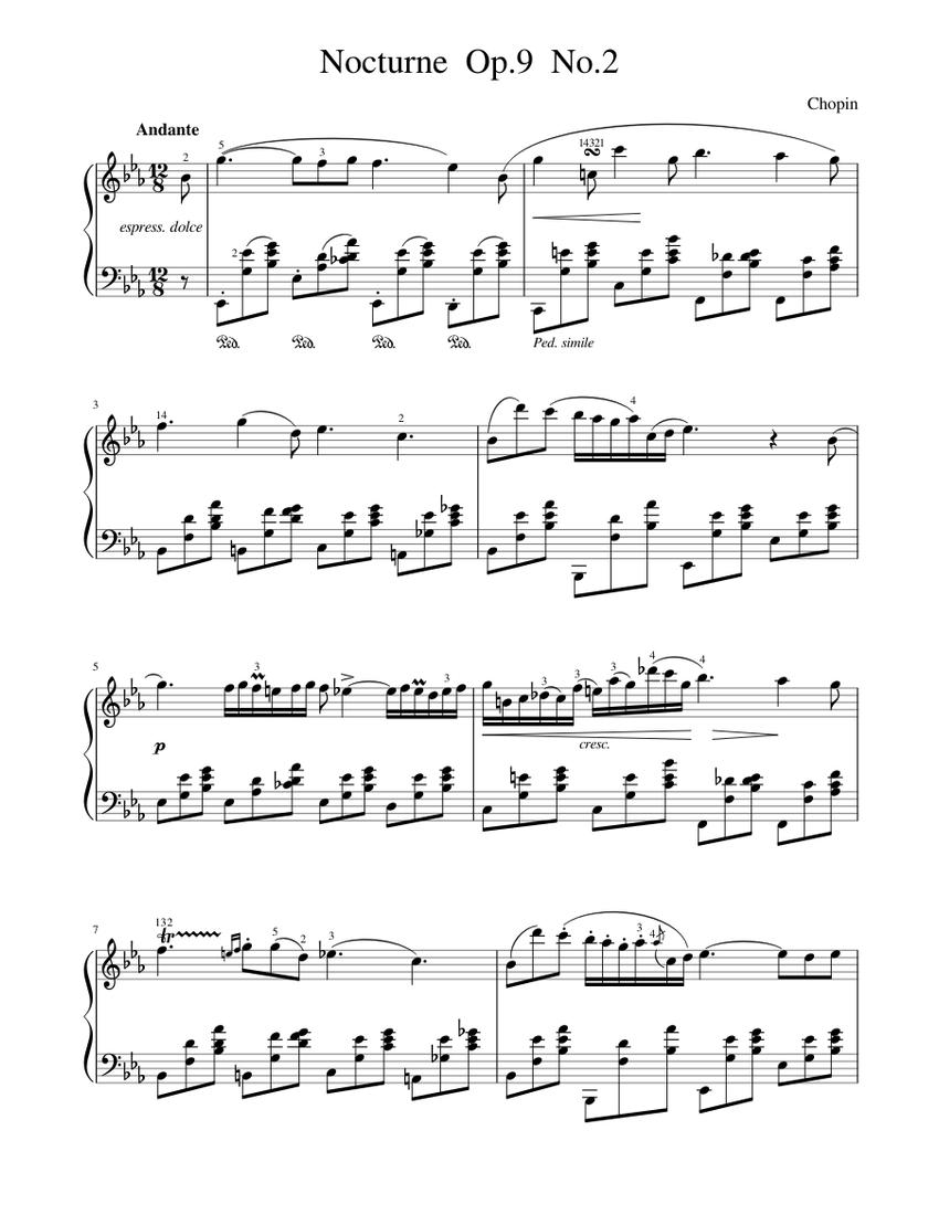 chopin - nocturne op 9 no 2 (e flat major) sheet music for piano (solo) |  musescore.com  musescore.com