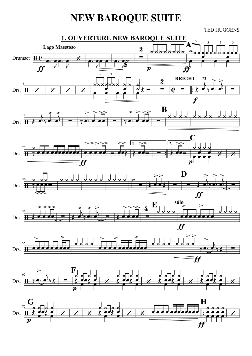 new baroque suite sheet music for drum group (solo) | download and print in  pdf or midi free sheet music | musescore.com  musescore.com