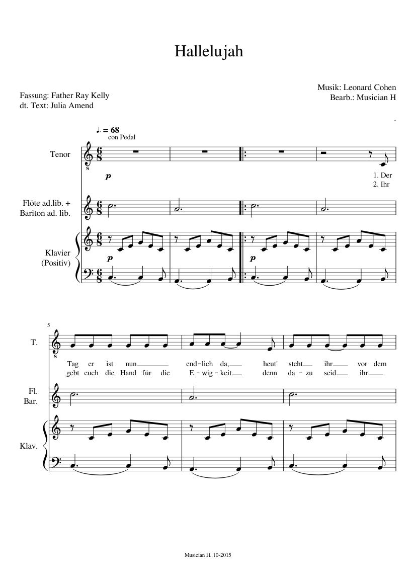 Hallelujah Leonard Cohen Fassung Father Ray Kelly Text Deutsch