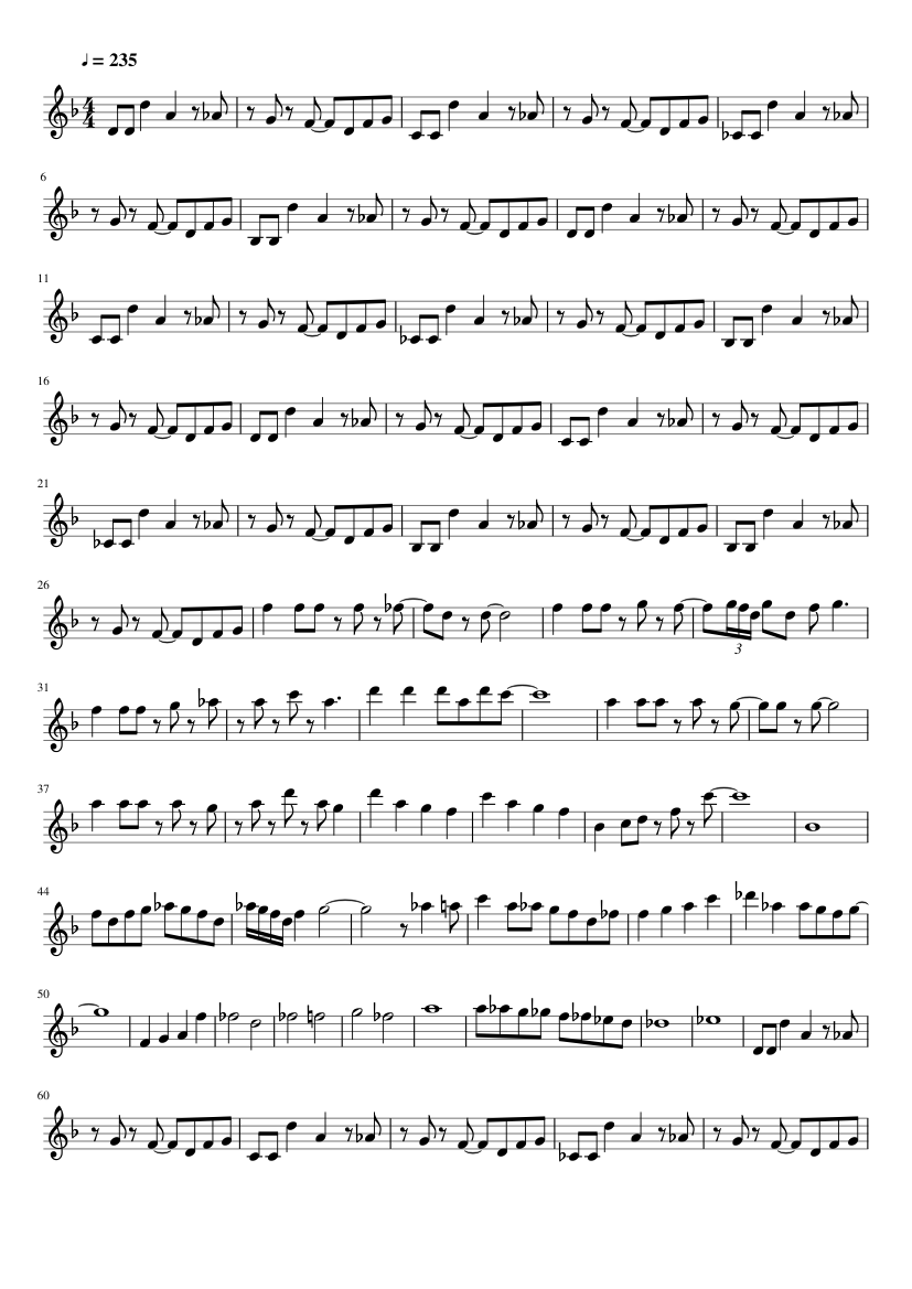 Megalovania Undertale Clarinet Solo Piano Tutorial