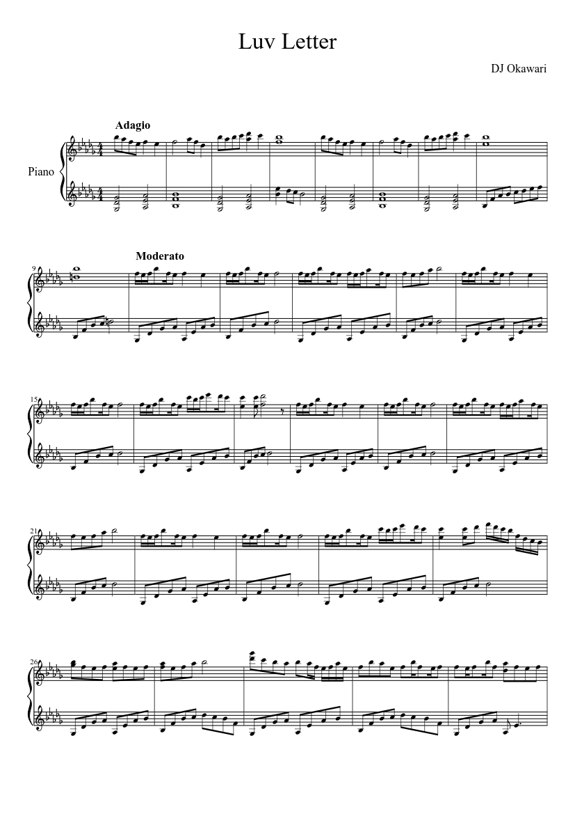 Luv Letter sheet music download free in PDF or MIDI