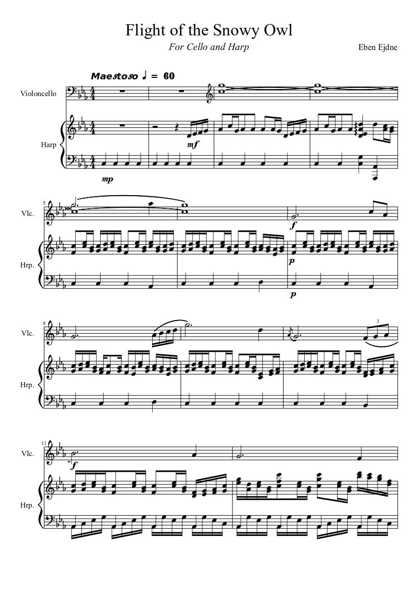 snowy owl music sheet | browse world best music sheet online  senbonzakura piano music sheet