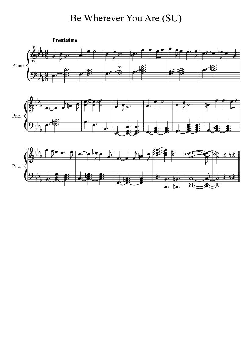 Steven Universe] Ending Theme Sheet music for Piano Solo ...