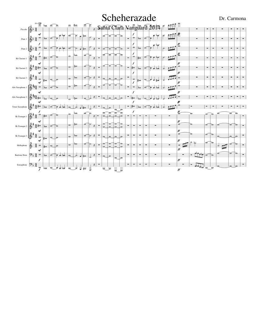 Scheherazade Santa Clara Vanguard For High School Band Sheet