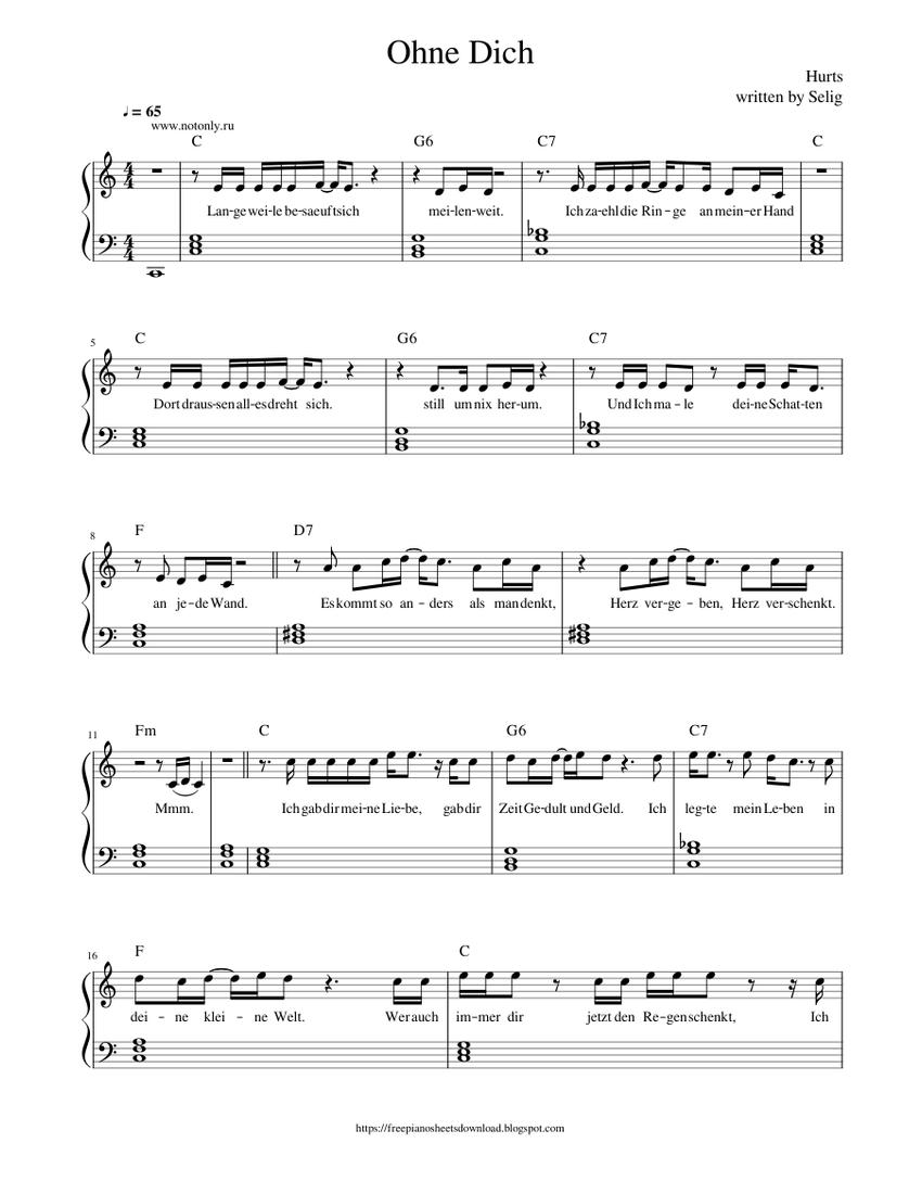 Und bis wir uns wiedersehen klaviernoten