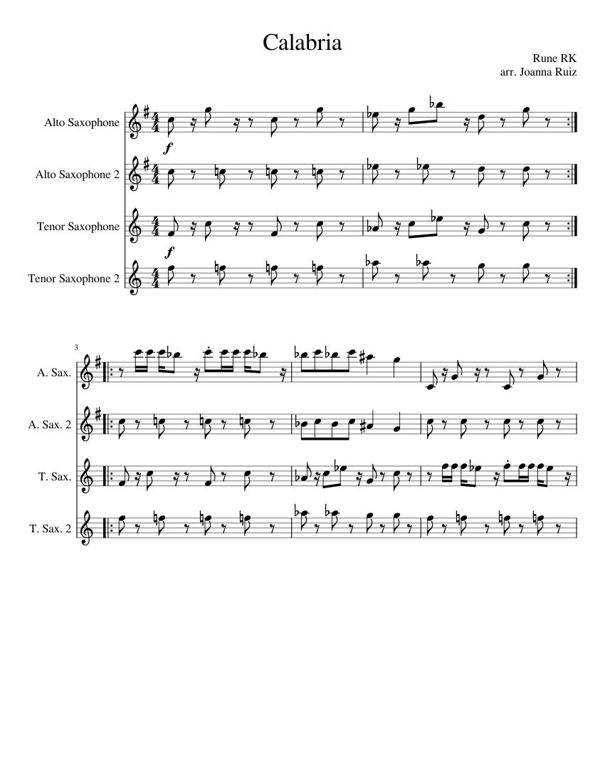 Mister_Magic - FAMU Saxophone_Fanfare Sheet music for