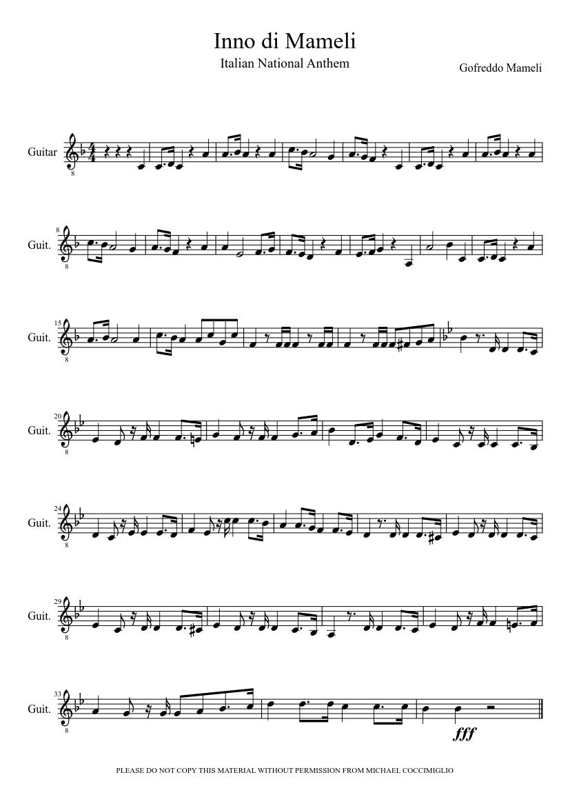 Download il canto degli italiani (inno di mameli) wind quintet arr.