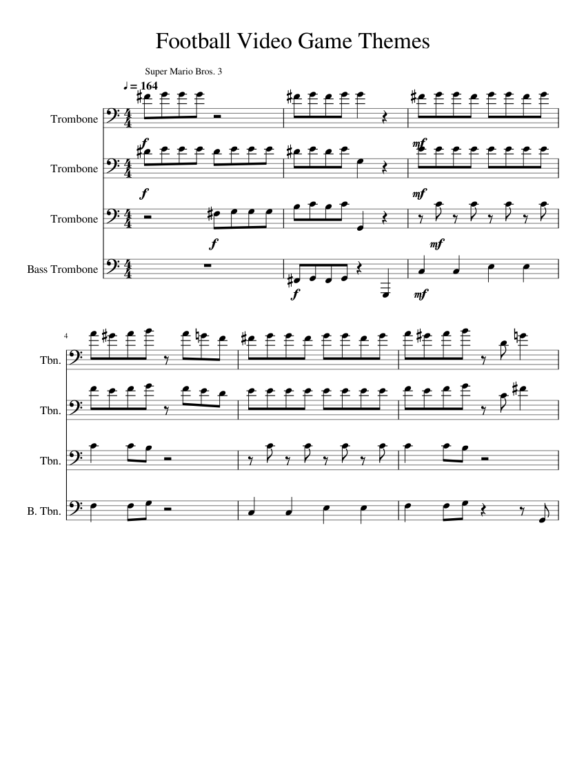 video game sheet music