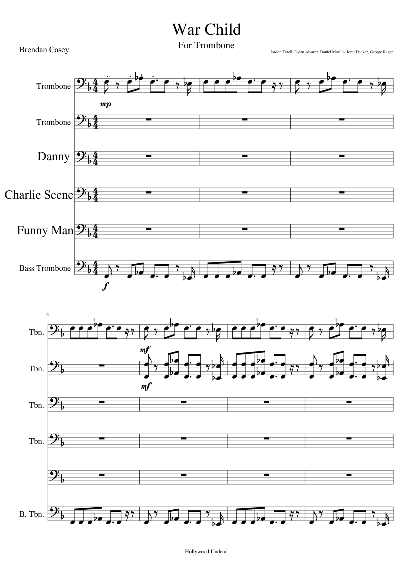 Hollywood undead sheet music free download in pdf or midi on.