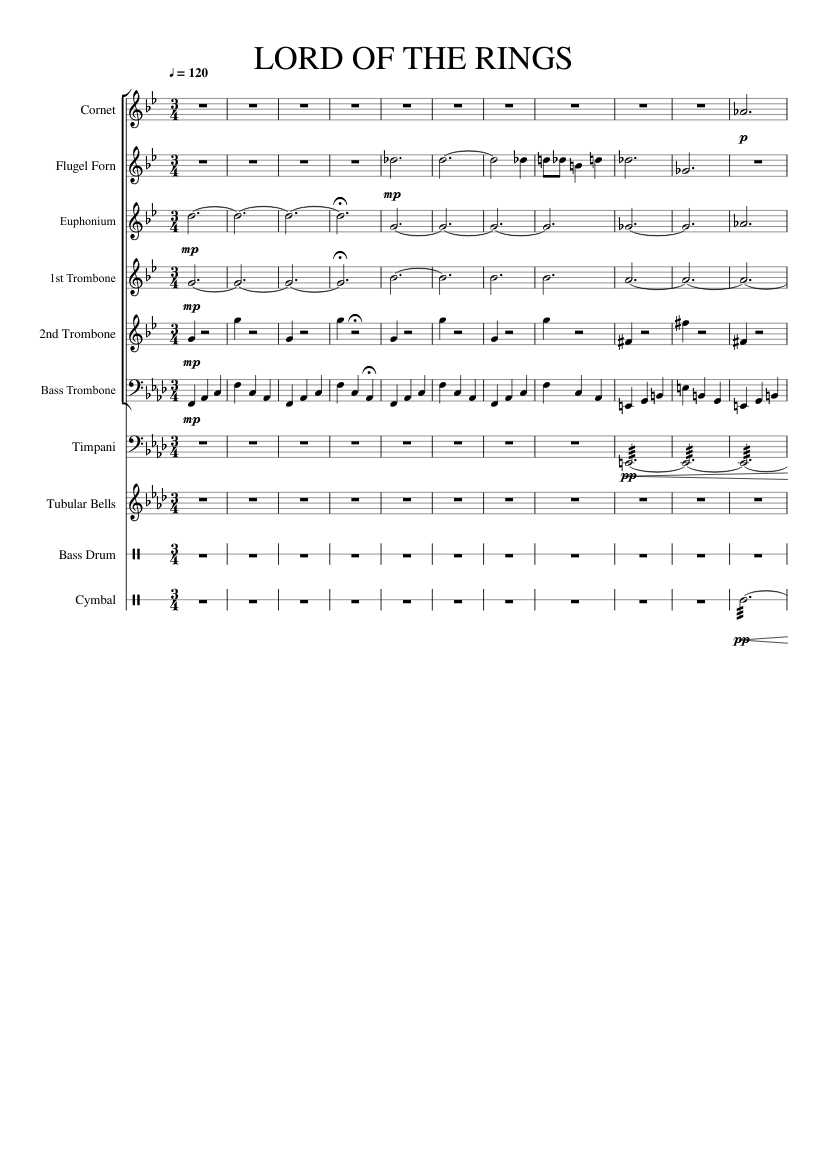The lord of the rings (medley) piano sheet music for piano.
