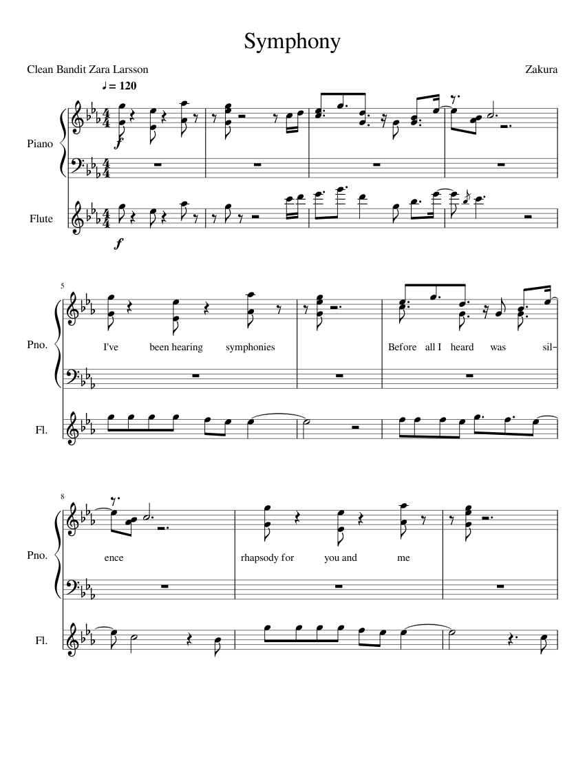 Amélie sheet music for flute, piano download free in pdf or midi.