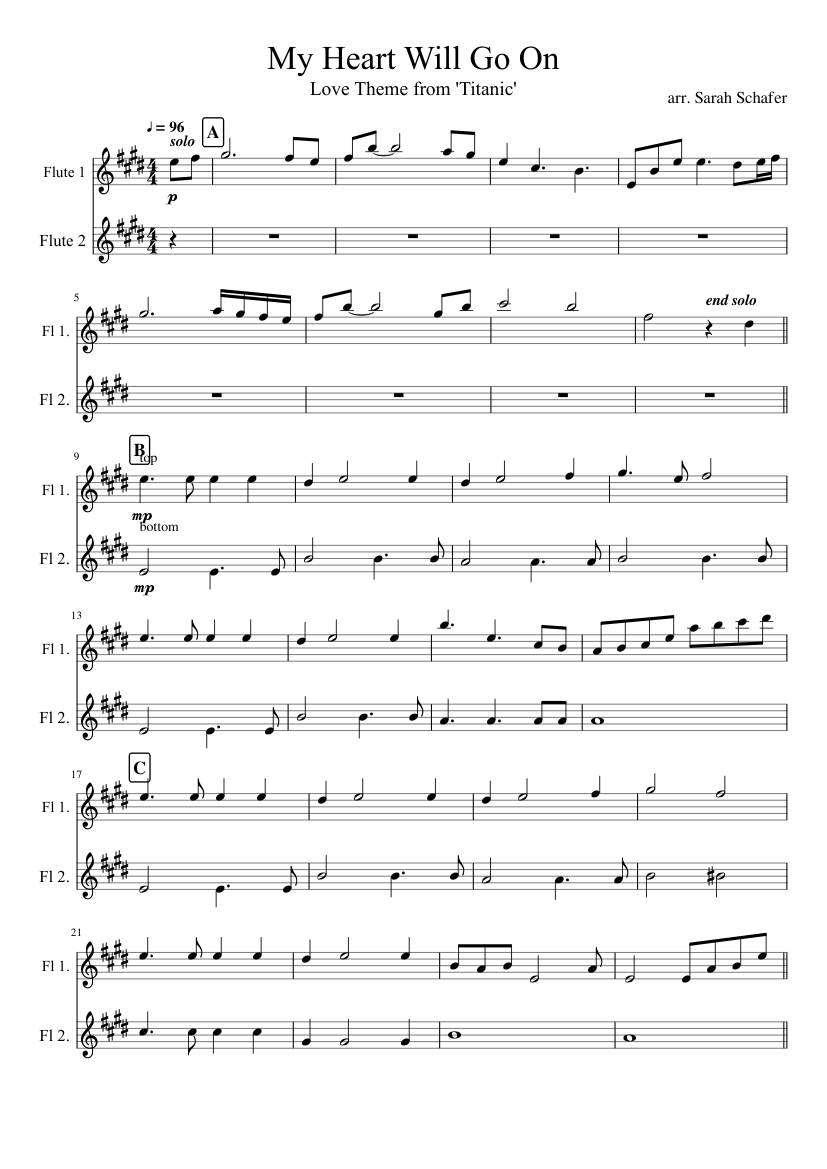 My Heart Will Go On Sheet Music Celine Dion - FREE SHEET MUSIC PDF