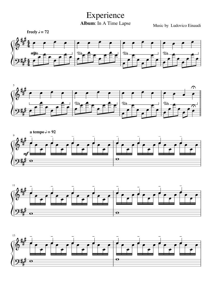 Ludovico einaudi piano sheet music free pdf