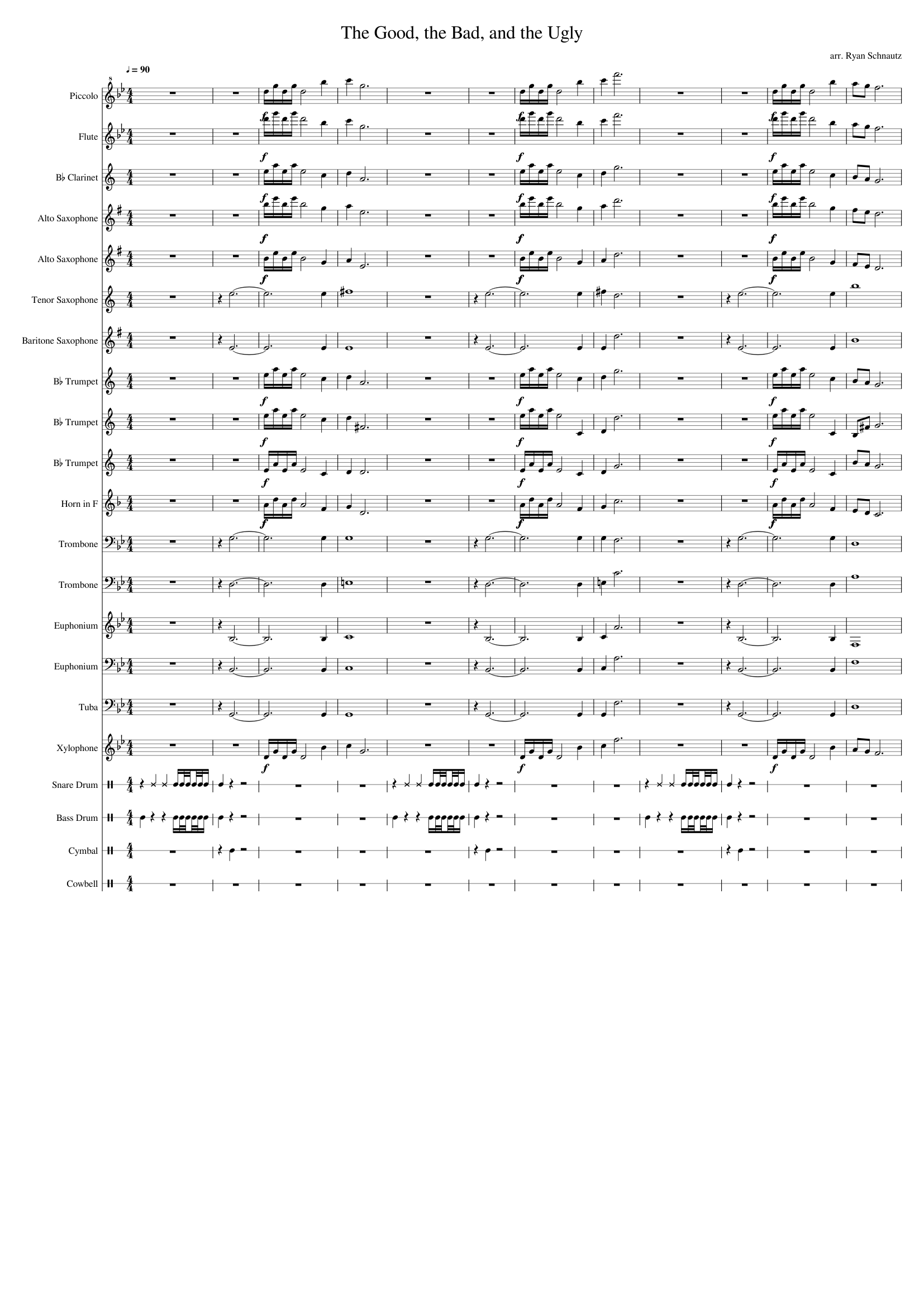 The good, the bad, the ugly the triello sheet music download.