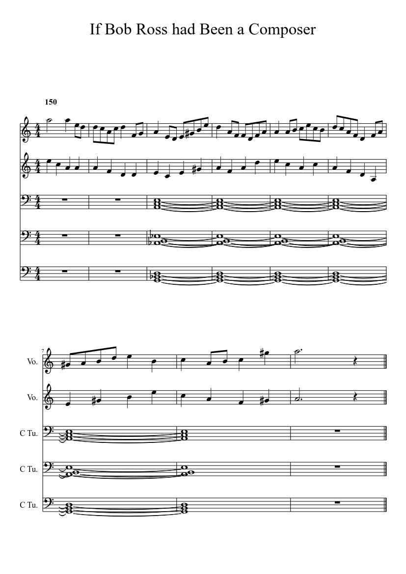 If Bob Ross Had Been A Composer Sheet Music Download Free In Pdf Or Midi