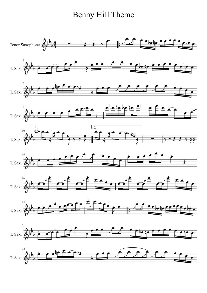 Yakety Sax Sheet