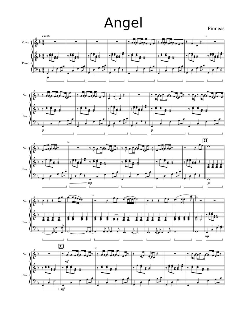 Finneas Angel piano sheets