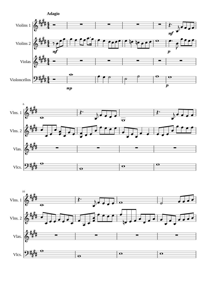 the prayer (for string quartet) sheet music for strings group (mixed quartet)  | musescore.com  musescore.com