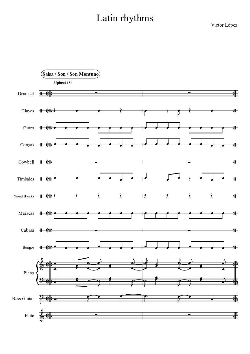 latin rhythms sheet music for piano, flute (solo)   musescore.com  musescore.com