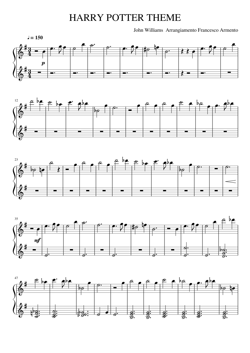 It is an image of Impeccable Harry Potter Theme Song Sheet Music for Piano Free Printable