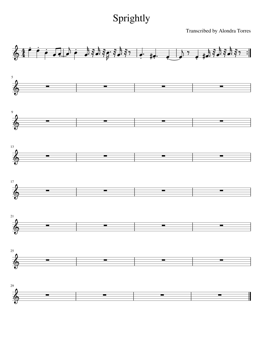 Alondra Naked sprighlty aka draw phil naked song sheet music for violin