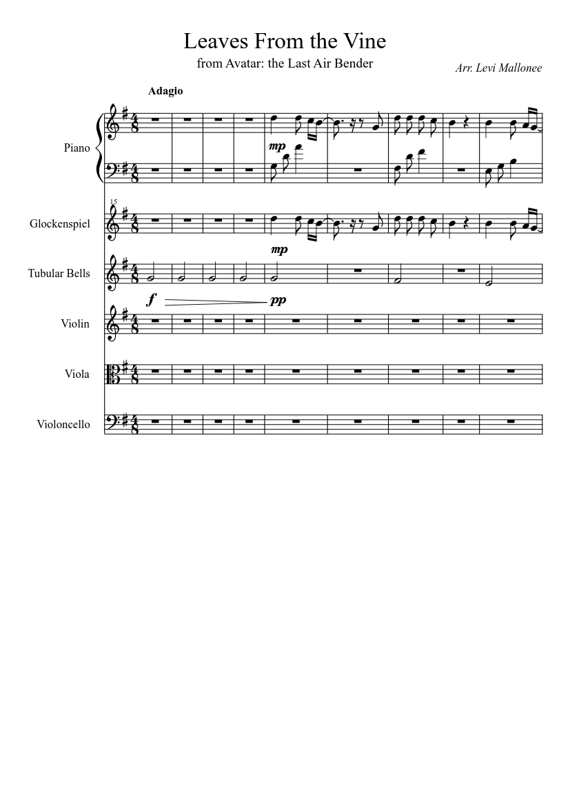 Leaves From The Vine Sheet Music For Piano Violin Viola Mixed Trio Musescore Com