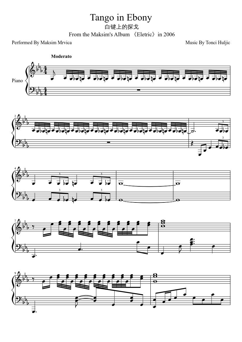 Tango a trois sheet music for cello download free in pdf or midi.