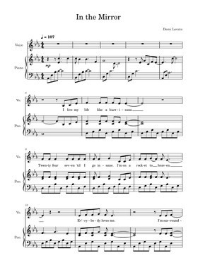 in the mirror sheet music free download in pdf or midi on musescore.com  musescore.com