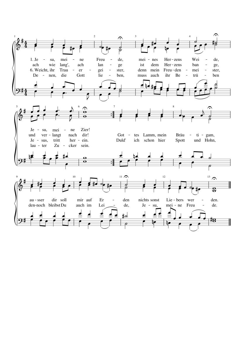 196. Jesu, meine Freude, BWV 227.1/11
