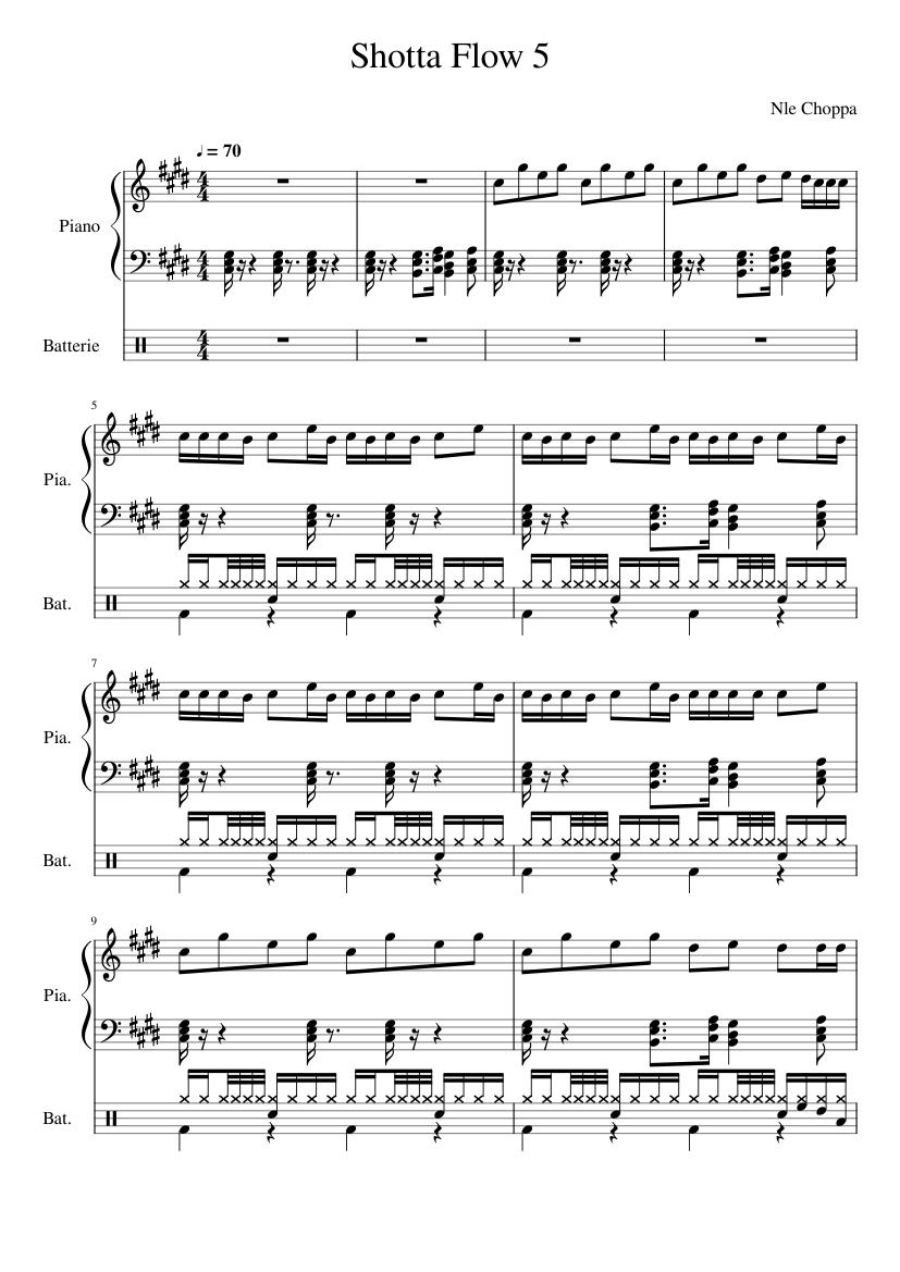 ARTIST TITLE piano sheets