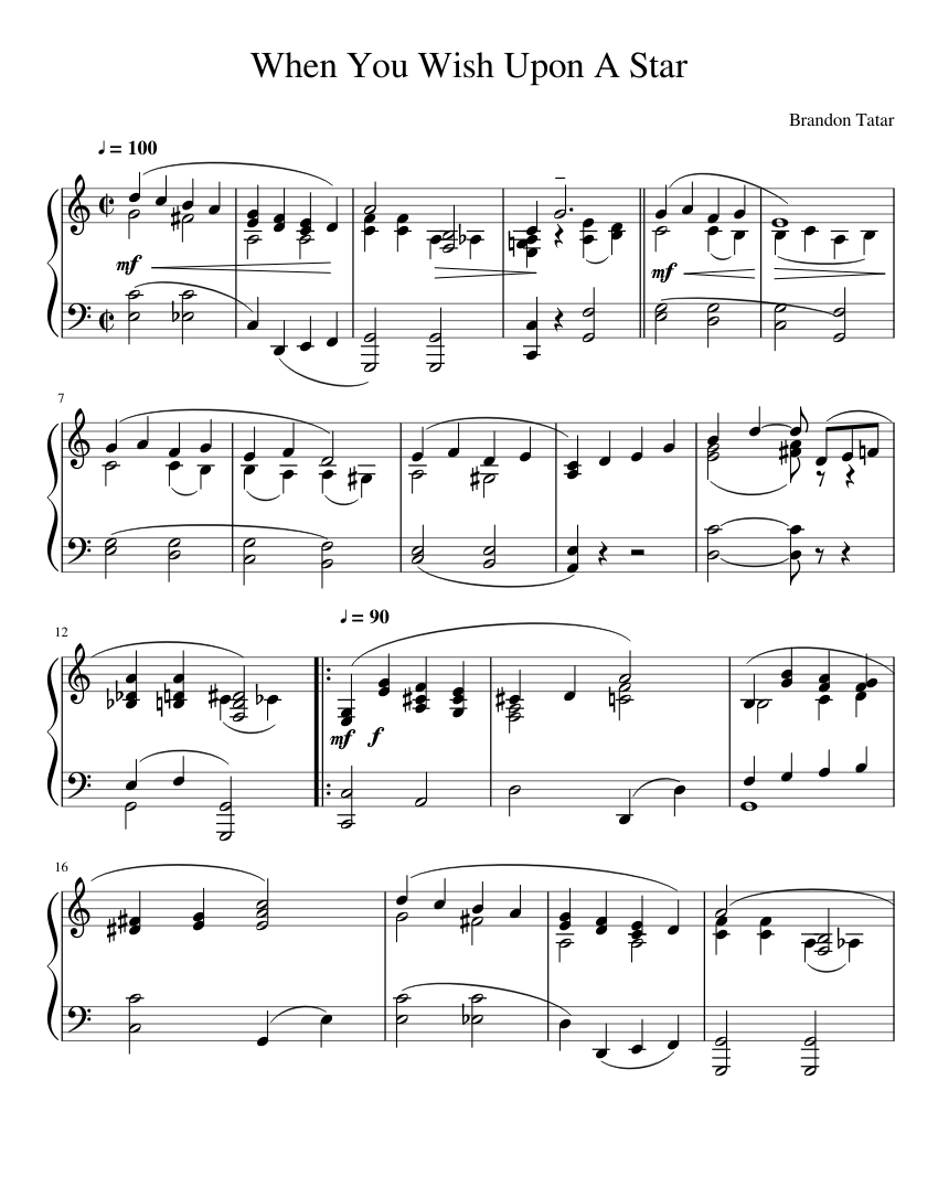 When you wish upon a star sheet music to download.