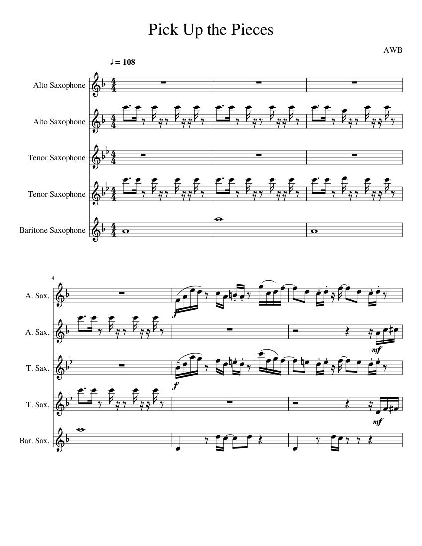 Sax pdf up alto the pieces pick Average White