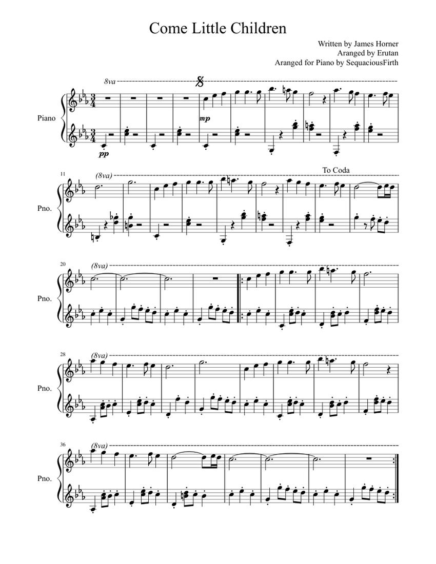 come little children sheet music for piano (solo)   musescore.com  musescore.com