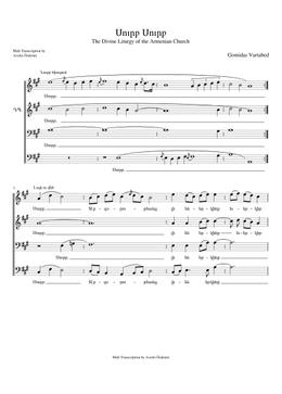 Սուրբ Սուրբ - Surp Surp sheet music arranged by Avedis Özdemir for SATB
