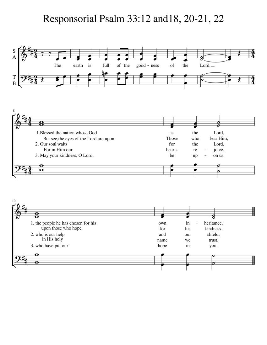 Ammco bus : Catholic wedding responsorial psalm 103