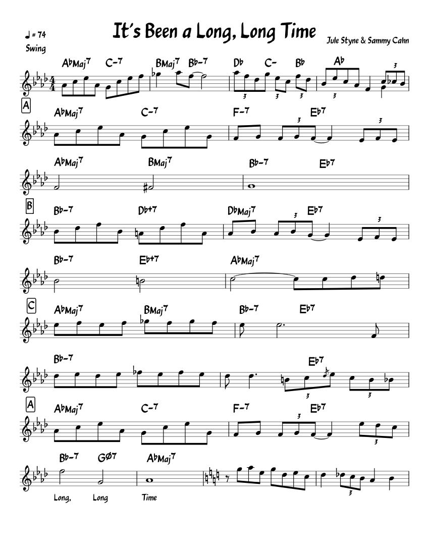 It's Been a Long Long Time Lead Sheet Sheet music for Piano Jazz ...