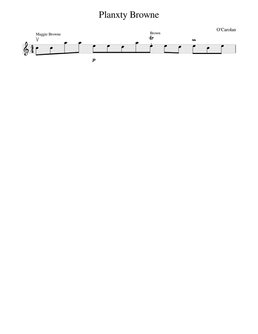 planxty browne sheet music for piano (solo) | musescore.com  musescore.com