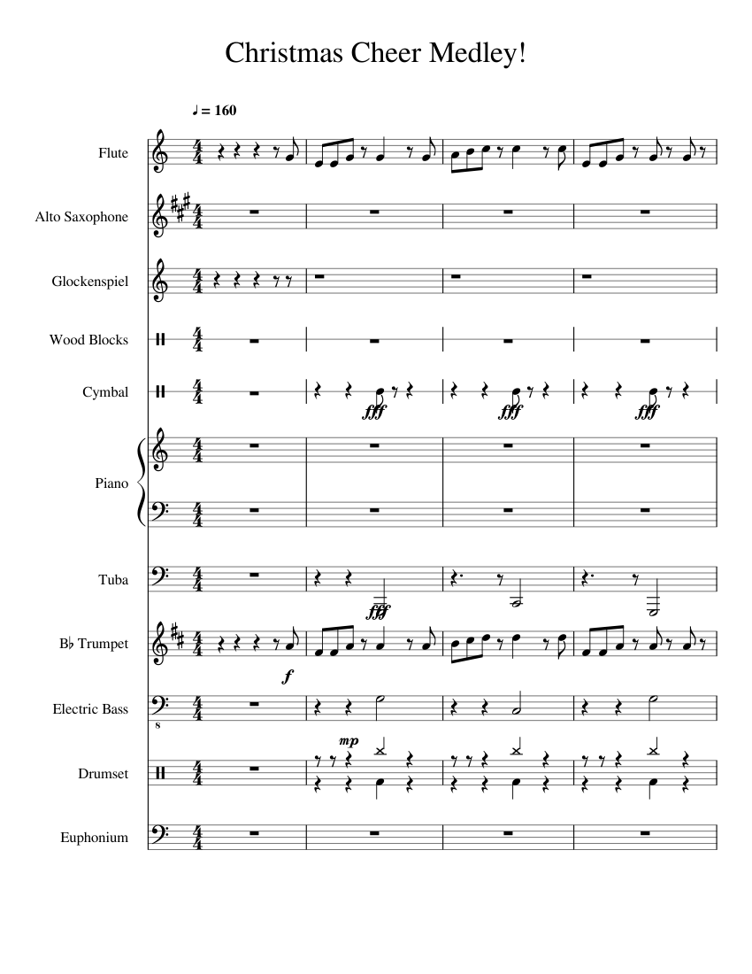 Low brass cheer sheet music download free in pdf or midi.