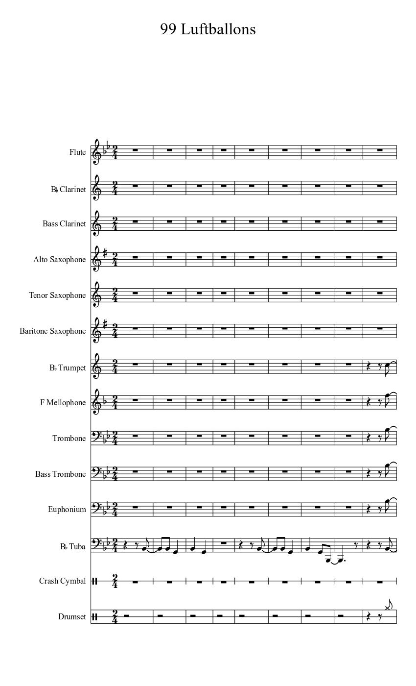 99 Luftballons Sheet Music Download Free In PDF Or MIDI
