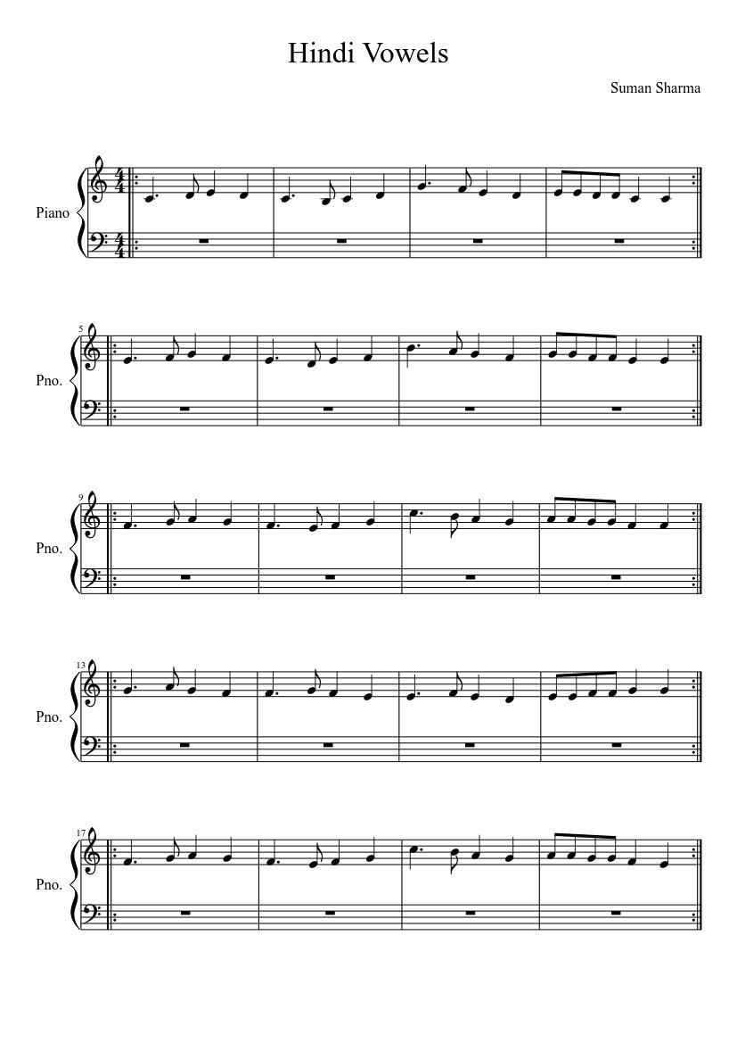 Hindi Songs Piano Notes Pdf