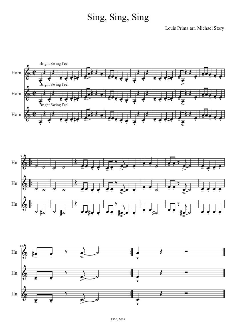 Sing Sing Sing Piano Tutorial