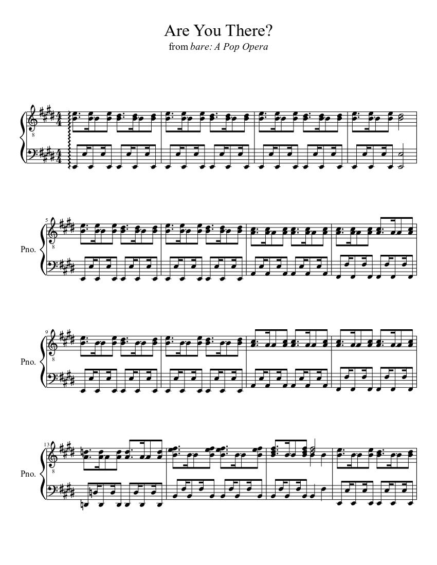 Bare: a pop opera voice sheet music downloads at musicnotes. Com.