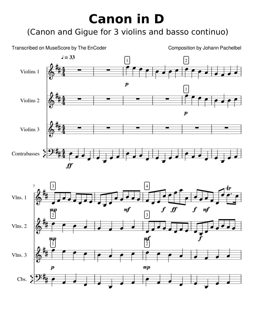 String quartet pachelbel canon