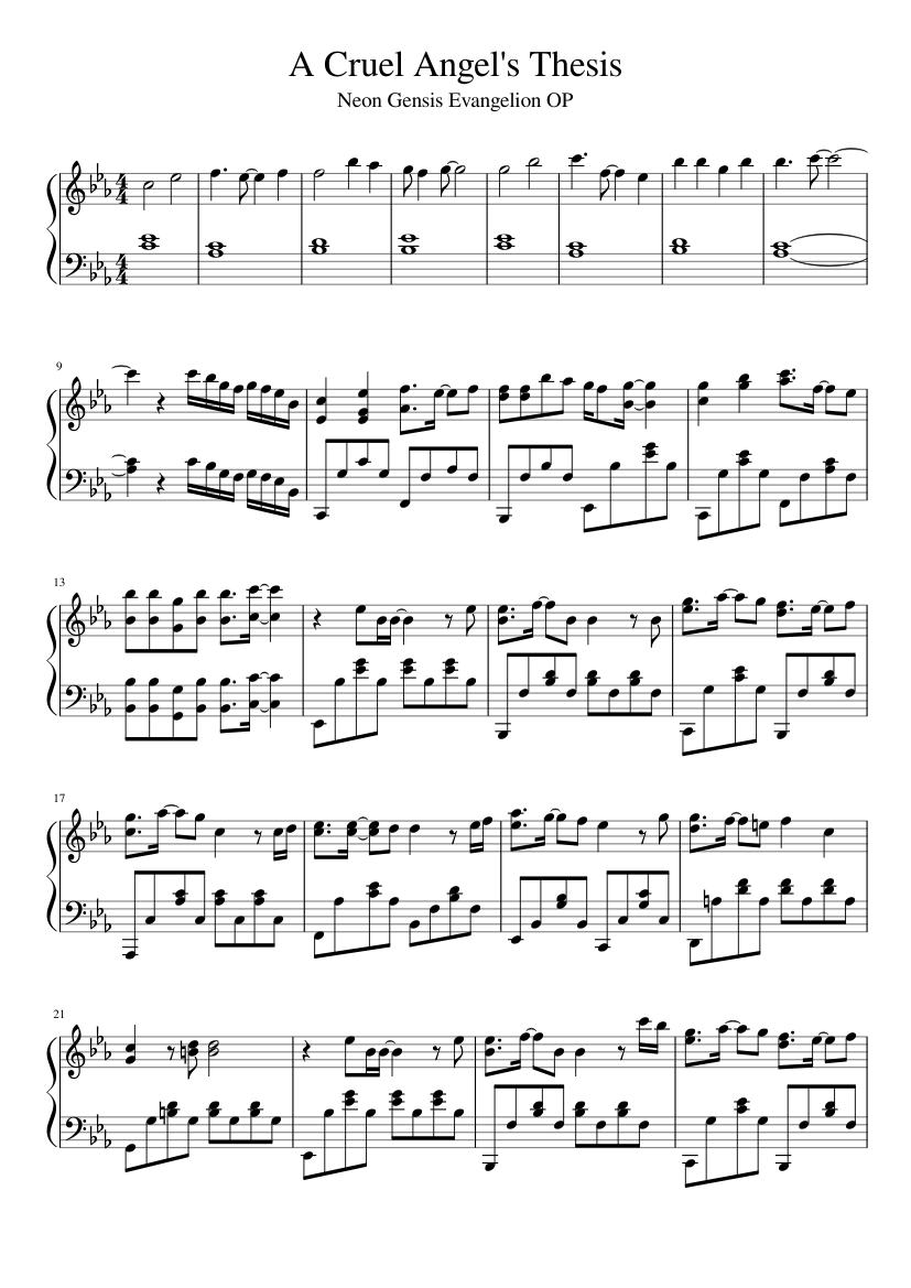 zankoku na tenshi no thesis piano