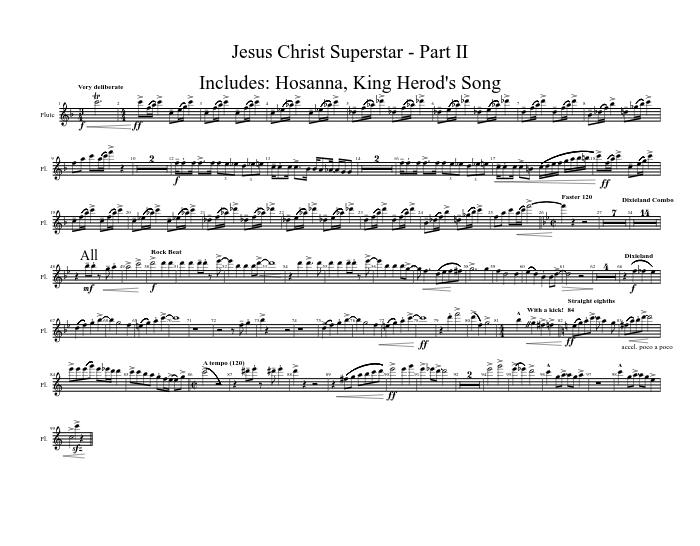 Jesus christ superstar part ii bb clarinet sheet music download.