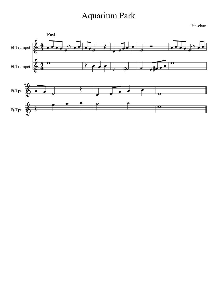 Mario kart 8: music park theme (my transition) sheet music for.