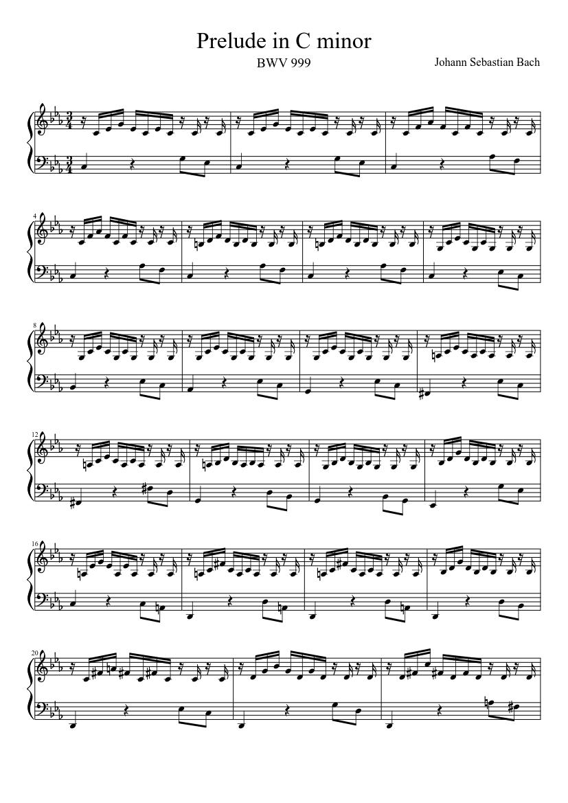 Bwv 999 d minor pdf