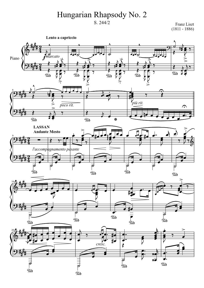 Second Piano Concerto Opus 18 Piano Solo Arrangement Rachmaninoff